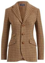 Ralph Lauren Houndstooth Wool Blazer Brown 2