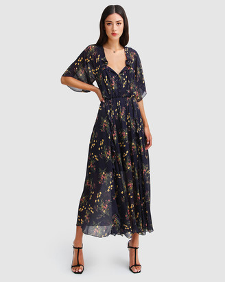 Belle & Bloom Women's Navy Maxi dresses - Amour Amour Ruffled Midi Dress - Size One Size, XS at The Iconic