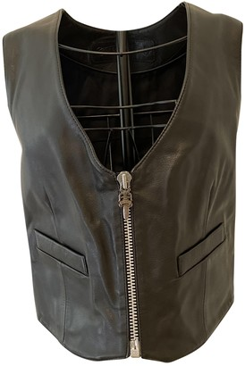 Chrome Hearts Black Leather Top for Women Vintage
