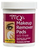 Andrea Eye Q's Oil-free Eye Makeup Remover Pads, 65 Count (Pack of 6) by