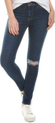 Hudson Jeans Blair Dark Blue High-Rise Super Skinny Ankle Cut