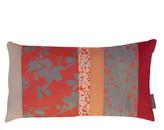 Clarissa Hulse Virginia Creeper Patchwork Bed Cushion - 30x50cm - Tiger Lily/Storm