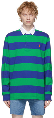 Polo Ralph Lauren Navy and Green Iconic Rugby Polo