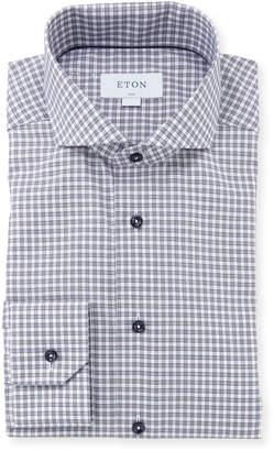 Eton Men's Gingham Check Dress Shirt
