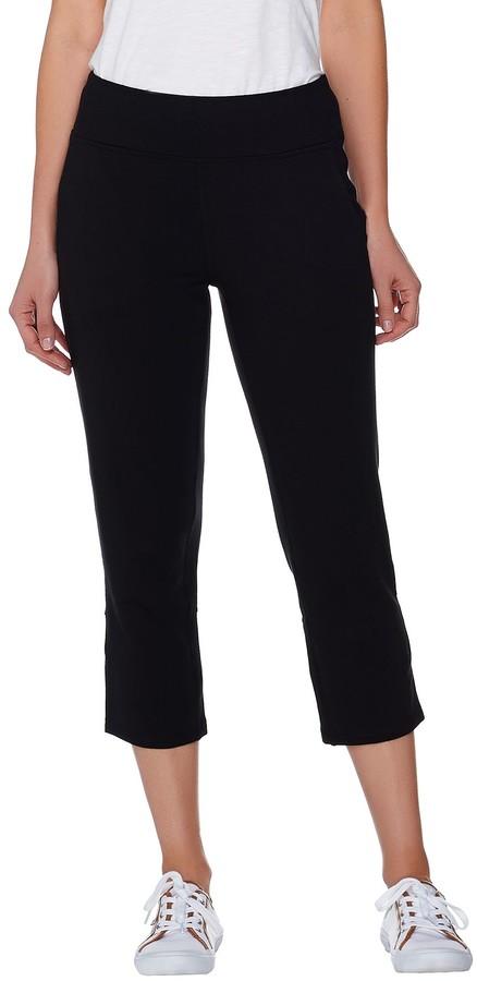 Denim & Co. Active Crop Pants with Back Vent Detail