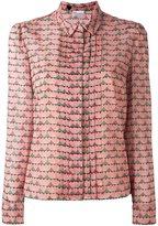 RED Valentino heart print shirt - women - Silk/Spandex/Elastane - 44