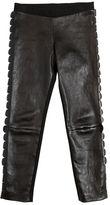 Fendi Faux Leather & Milano Jersey Leggings