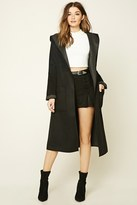 Forever 21 FOREVER 21+ Hooded Shawl Collar Coat