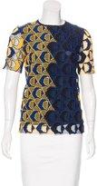 Derek Lam Crochet Short Sleeve Top