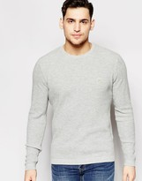 Farah Jumper With Waffle Knit Regular Fit