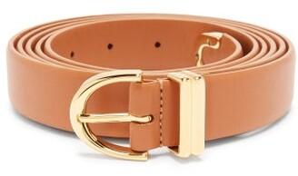 KHAITE Brooke Leather Belt - Womens - Tan