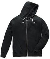 Jacamo Black Bailey Hooded Top Regular