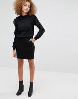 Warehouse Clean Denim Mini Skirt