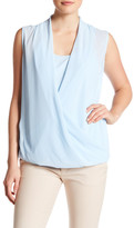 Laundry by Shelli Segal Sleeveless Drape Front Blouse