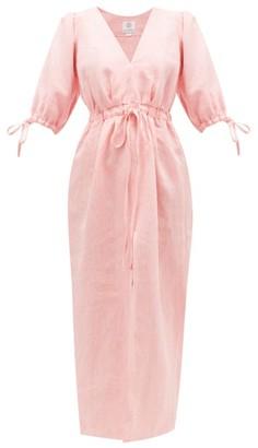 Gül Hürgel V-neck Linen Dress - Womens - Pink