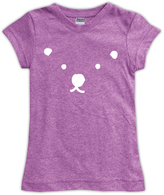 Urban Smalls Mauve Polar Bear Fitted Tee - Toddler & Girls