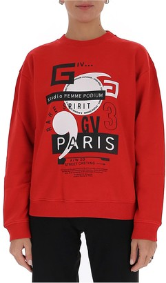 Givenchy Paris Print Jumper