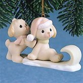 Precious Moments Puppies On Sled Ornament by
