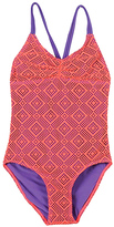 Beach Rays Coral Lace One-Piece - Girls