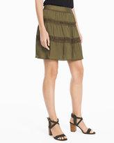 White House Black Market Military Skirt
