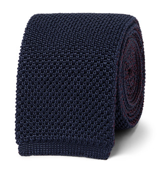 Brioni 6mm Reversible Knitted Silk Tie
