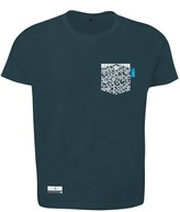 Anchor & Crew Steel Blue Digit Print Organic Cotton T-Shirt Mens
