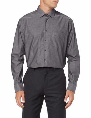 Seidensticker Men's Modern Fit Langarm mit Business Kent-Kragen Patch 3 Bugelfrei Uni-100% Baumwolle Formal Shirt