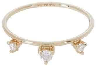 Mizuki Gold Triple Diamond Tiara Ring