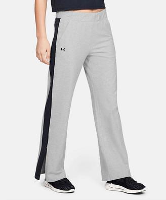 Under Armour Women's Active Pants Jet - Jet Gray Light Heather & Black Favorite Open-Hem Side-Split Pants - Women