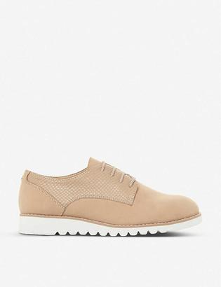 Dune Flinch platform leather derby shoes