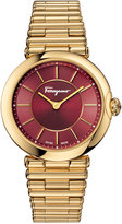 Salvatore Ferragamo Women's Swiss Style Gold-Tone Ion-Plated Stainless Steel Bracelet Watch 36mm FIN06 0015
