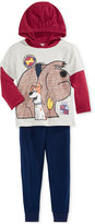 Nannette Little Boys' 2-Pc. Graphic-Print Hoodie & Pants Set