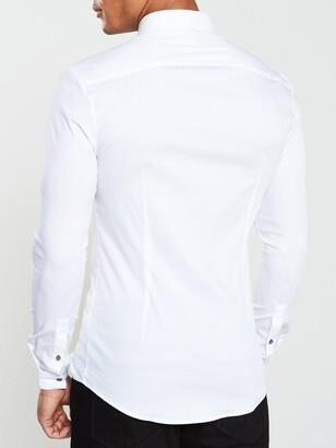 River Island Long Sleeve Muscle CVC Shirt