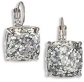 Kate Spade Small Square Glitter Leverback Earrings