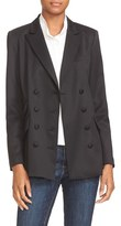 Frame Women's Stretch Wool Double Breasted Blazer