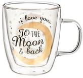 """Evergreen I Love You"""" Glass Café Cup - 12oz."""