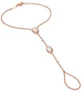 Jacquie Aiche Moonstone & Diamond Hand Chain