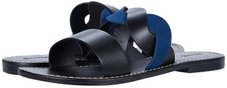 Soludos Imogen Leather Sandal (Black/Midnight) Women's Shoes