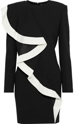 Givenchy Satin Twill-trimmed Wool-crepe Mini Dress