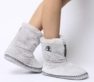 Bedroom Athletics Marilyn Short Faux Fur Boots Trace Grey