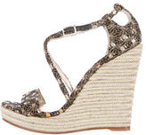 Jean-Michel Cazabat Metallic Knit Sandals