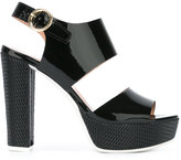 Pollini platform sling-back sandals - women - Leather/Polyurethane/rubber - 36