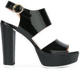 Pollini platform sling-back sandals - women - Leather/rubber/Polyurethane - 36