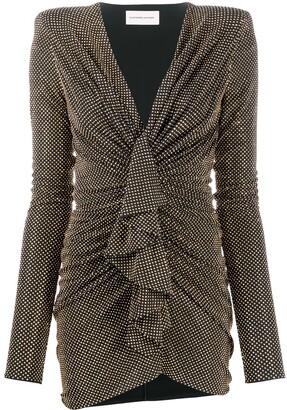 Alexandre Vauthier Studded Gathered Dress