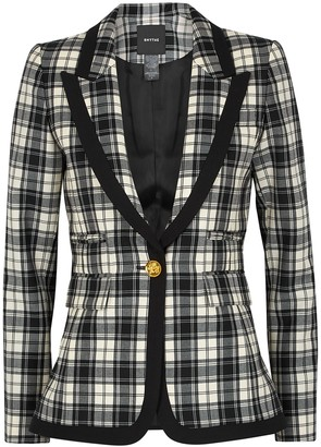 Smythe Monochrome plaid wool blazer