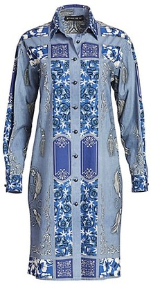 Etro Bandana-Print Cotton Shirtdress