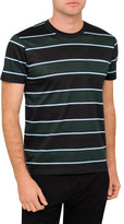 Ami Men Chest Pocket Crewneck Tshirt Stripe