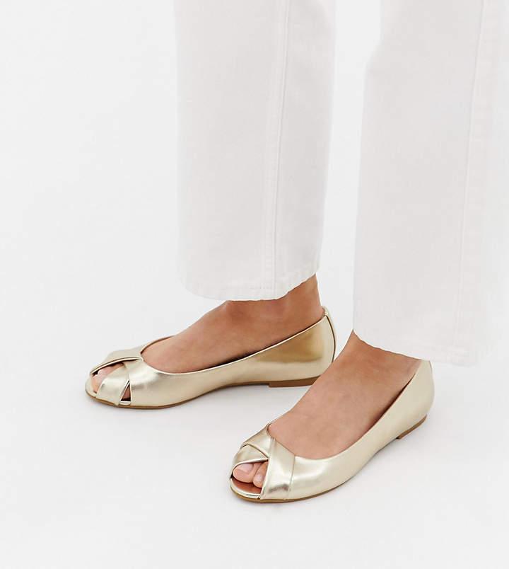 b13af80cc Peep Toe Ballet Flats - ShopStyle UK