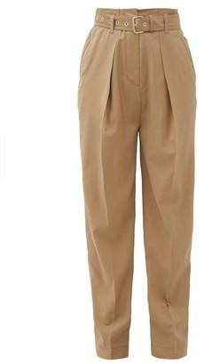 J.W.Anderson Belted Virgin-wool Pleated Trousers - Beige
