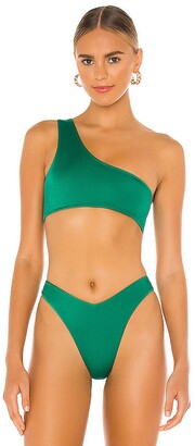 Frankie's Bikinis Barb Shine Bikini Top